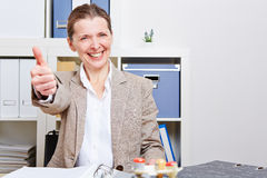 Senior business woman holding Royalty Free Stock Photo