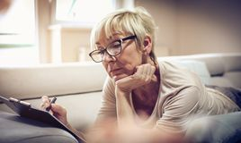 Writing on document. royalty free stock images