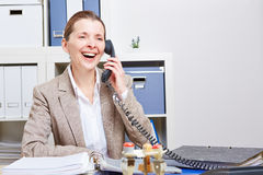 Senior business woman making phone Royalty Free Stock Photography