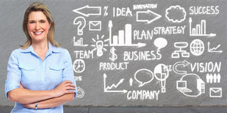 Senior business woman. royalty free stock images