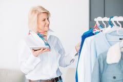 Senior business woman modern lifestyle confidence stock photography
