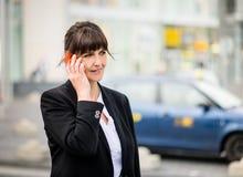 Senior business woman on phone Stock Image