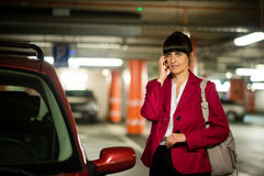 Senior business woman on phone Stock Images