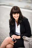 Senior business woman street portrait Stock Image