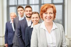 Senior business woman as CEO royalty free stock photography