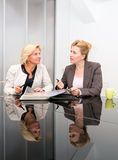 Senior business women meeting royalty free stock photography