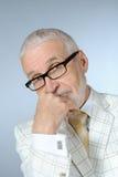 Senior businessman. Portrait of friendly senior businessman Stock Image