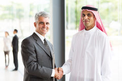 Senior businessman Arabian partner Royalty Free Stock Images