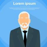 Senior Businessman Boss Business Owner Flat. Profile Icon Male Portrait Vector Illustration vector illustration