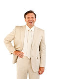 Senior businessman with a bright smile Royalty Free Stock Image