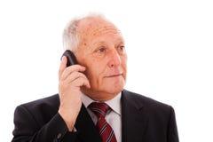 Senior businessman call Royalty Free Stock Photography