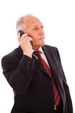 Senior businessman call Stock Image