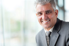 Senior businessman close up Royalty Free Stock Photography