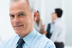 Senior Businessman Closeup Stock Photos