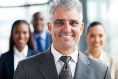 Senior businessman co-workers Stock Photo