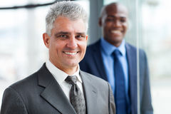 Senior businessman colleague Stock Photos