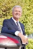 Senior businessman drinking coffee Royalty Free Stock Image
