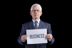 Senior businessman expert Stock Photos