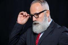 Senior businessman in eyeglasses Royalty Free Stock Photo
