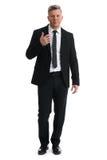 Senior businessman full length isolated Stock Image