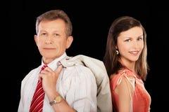 Senior businessman and girl Stock Image