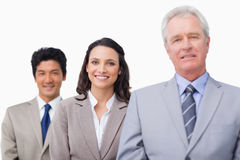 Senior businessman with his colleagues Royalty Free Stock Photography