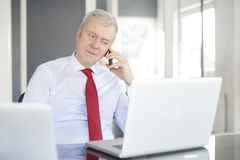 Free Senior Businessman In The Office Royalty Free Stock Images - 89329149