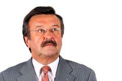 Senior Businessman Looking Up stock photo