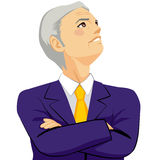 Senior Businessman Looking Up Sky Royalty Free Stock Images