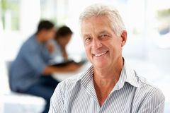 Senior businessman in office Stock Photo