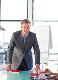 Senior businessman in office Royalty Free Stock Images
