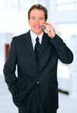 Senior Businessman In Office Lobby Royalty Free Stock Images
