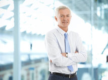 Senior businessman portrait Stock Photos