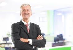 Senior businessman portrait Stock Images