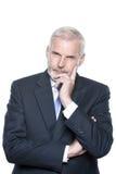 Senior businessman portrait pensive Stock Images