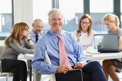 Senior businessman portrait Stock Photography