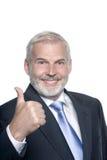 Senior businessman portrait thumb up Stock Photo
