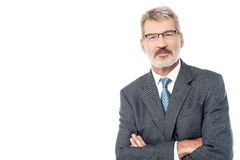 Senior businessman posing with confidence Royalty Free Stock Photos