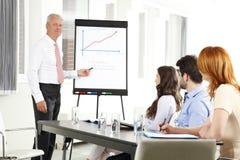 Senior businessman presentation Stock Image