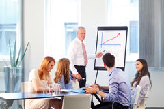 Senior businessman presentation Royalty Free Stock Image