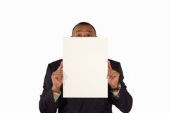 Senior businessman presenting a picture board Royalty Free Stock Photo