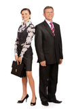 Senior businessman and secretary Stock Photo