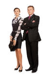 Senior businessman and secretary Stock Image