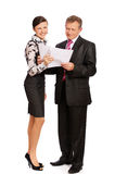 Senior businessman and secretary Royalty Free Stock Images