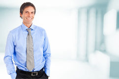 Senior businessman smiling Stock Photos