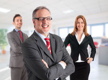Senior businessman smiling Royalty Free Stock Photography