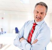 Senior businessman smiling Stock Images