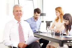 Senior  businessman smiling Royalty Free Stock Images