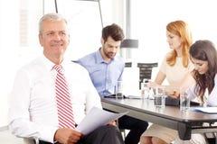 Senior  businessman smiling Royalty Free Stock Images