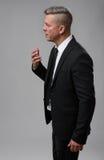 Senior Businessman Speaking and Gesturing Royalty Free Stock Photo